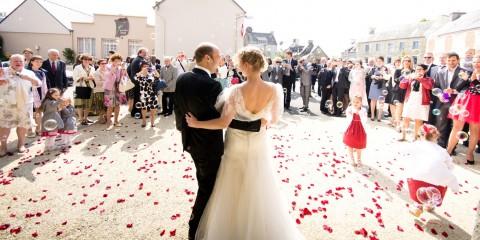 mariage bretagne photographe sortie église