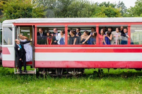 photo mariage train
