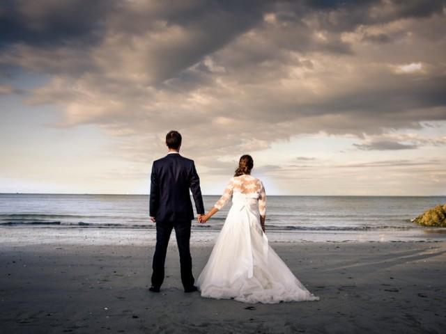mariage binic after wedding couple