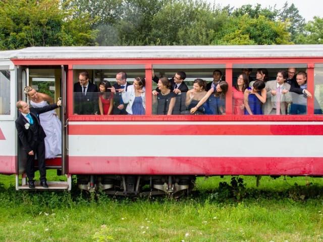 photo mariage train